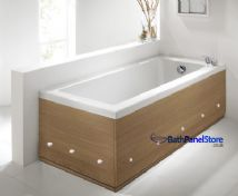 Luxury LED Illuminated Pippy Oak 2 Piece adjustable Bath Panels